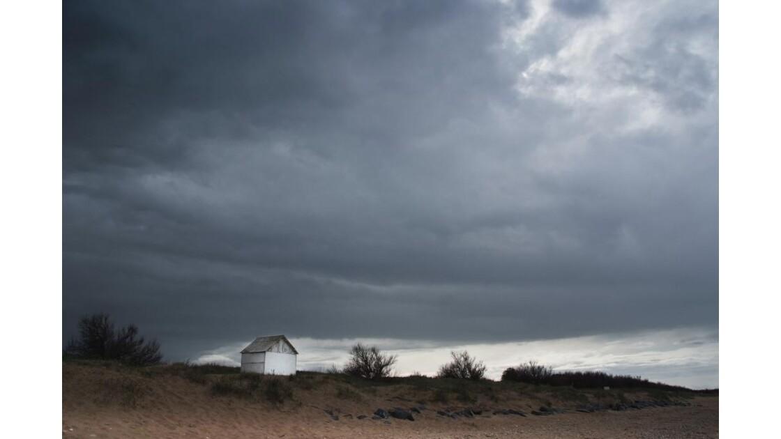 Vieille cabine de Bernières sur mer