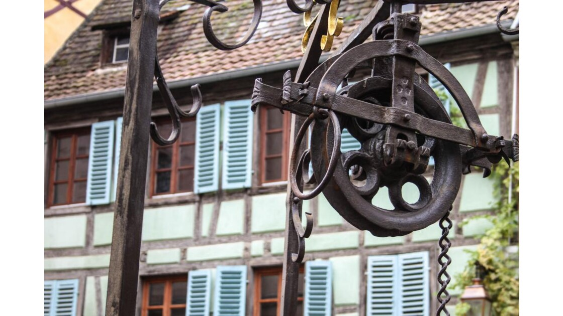 un puits à Riquewihr....