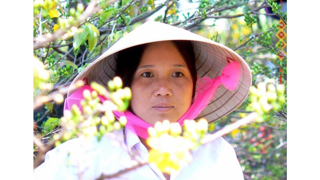 Vendeuse de fleurs - Saigon - Vietnam