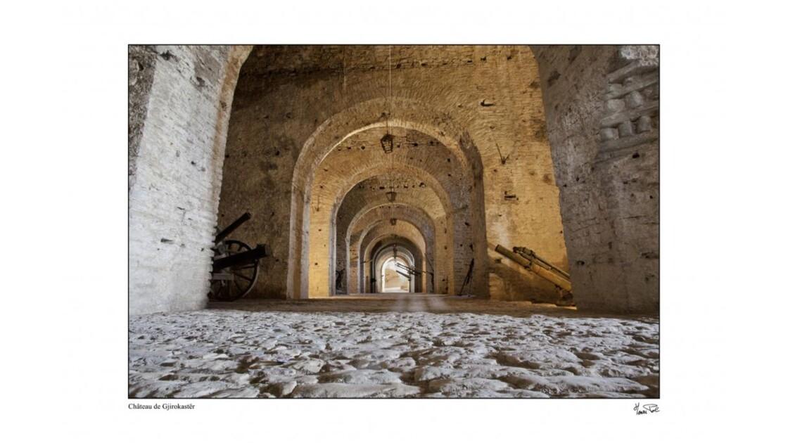 à l'intérieur du château de Gjirokaster