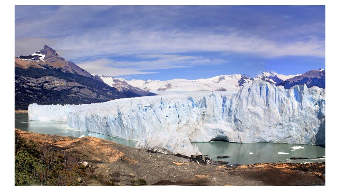 glacier vu des passerelles g