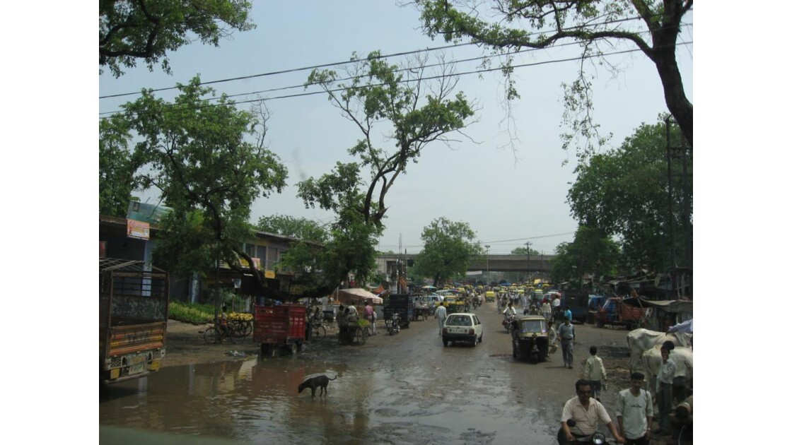 Photo prise en route, Agra