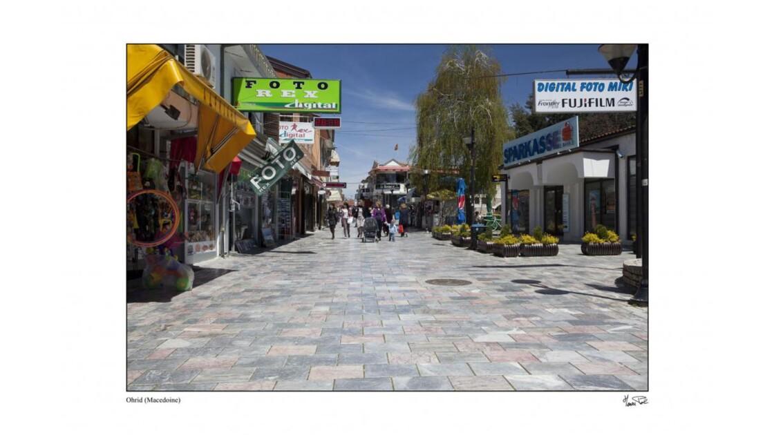 rue piétonne d'Ohrid