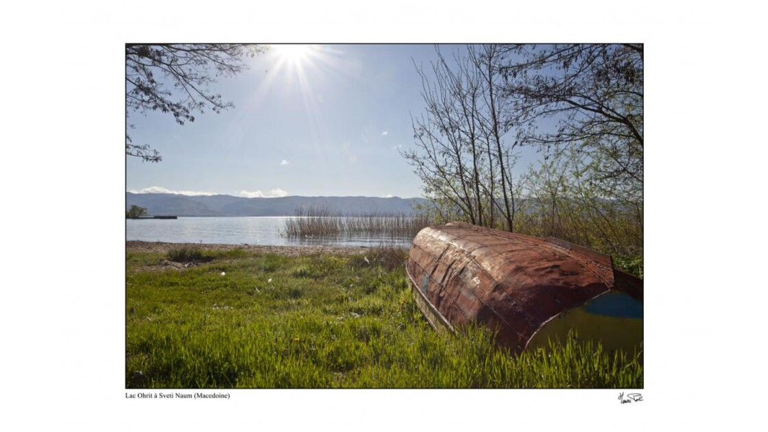 bord du lac Ohrit en Macedoine