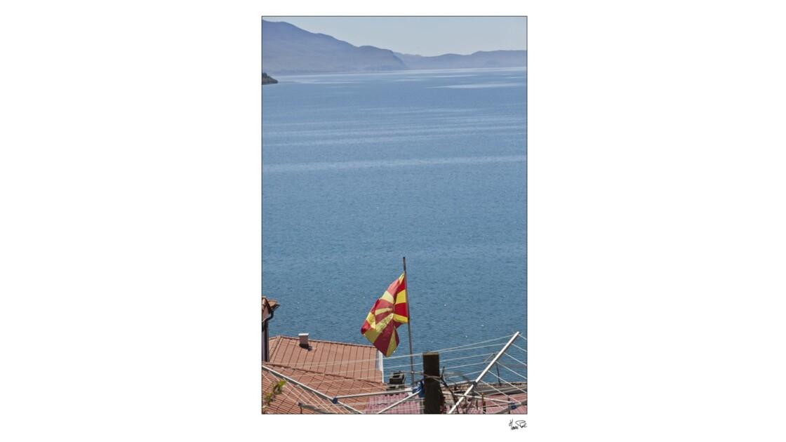 lac Ohrit vu de la Macedoine