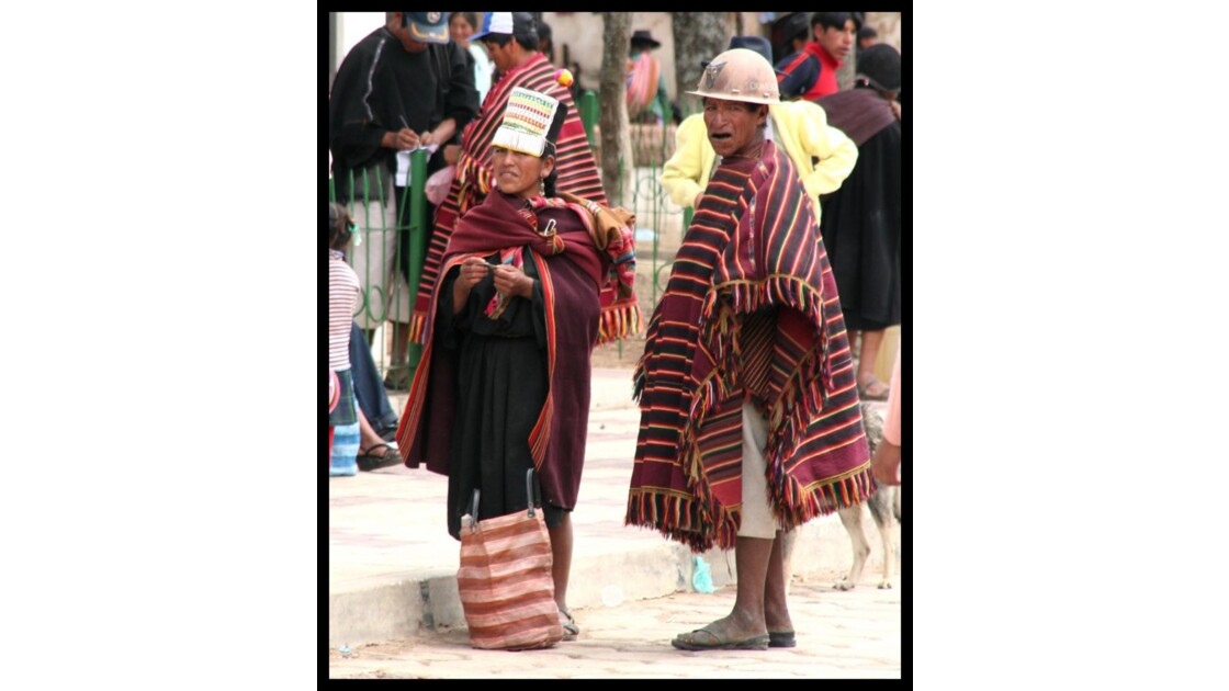 Un bolivien et une bolivienne