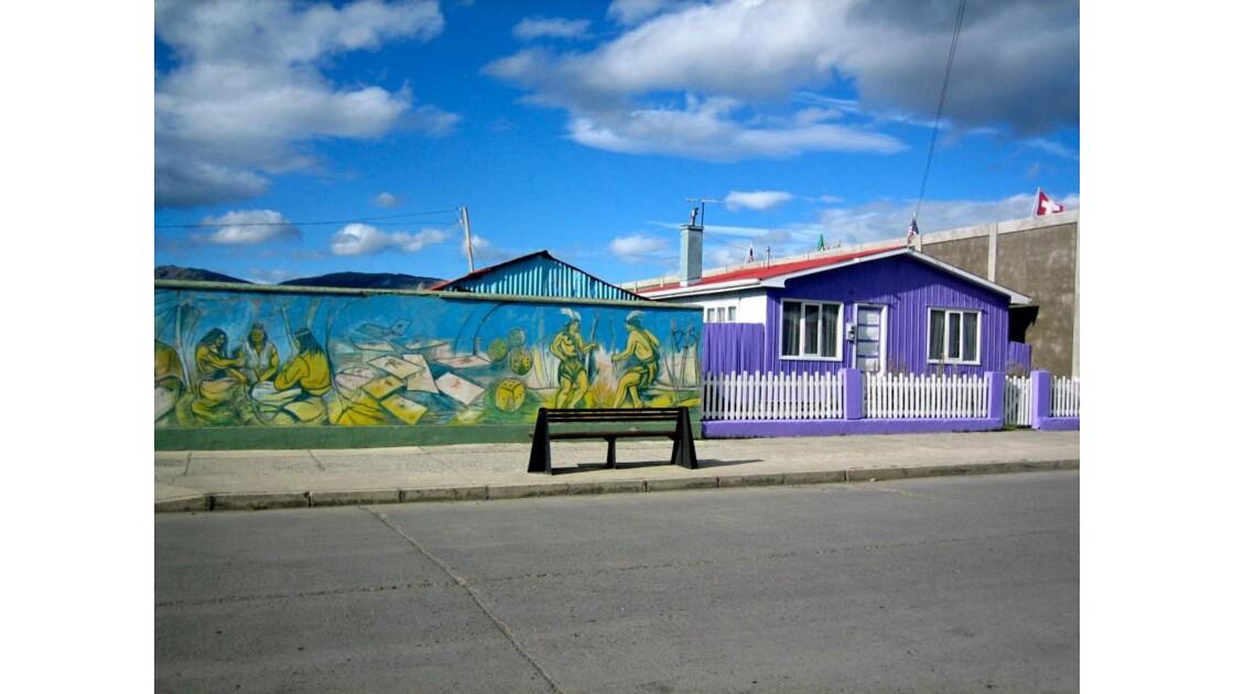 Une rue à Puerto Natales