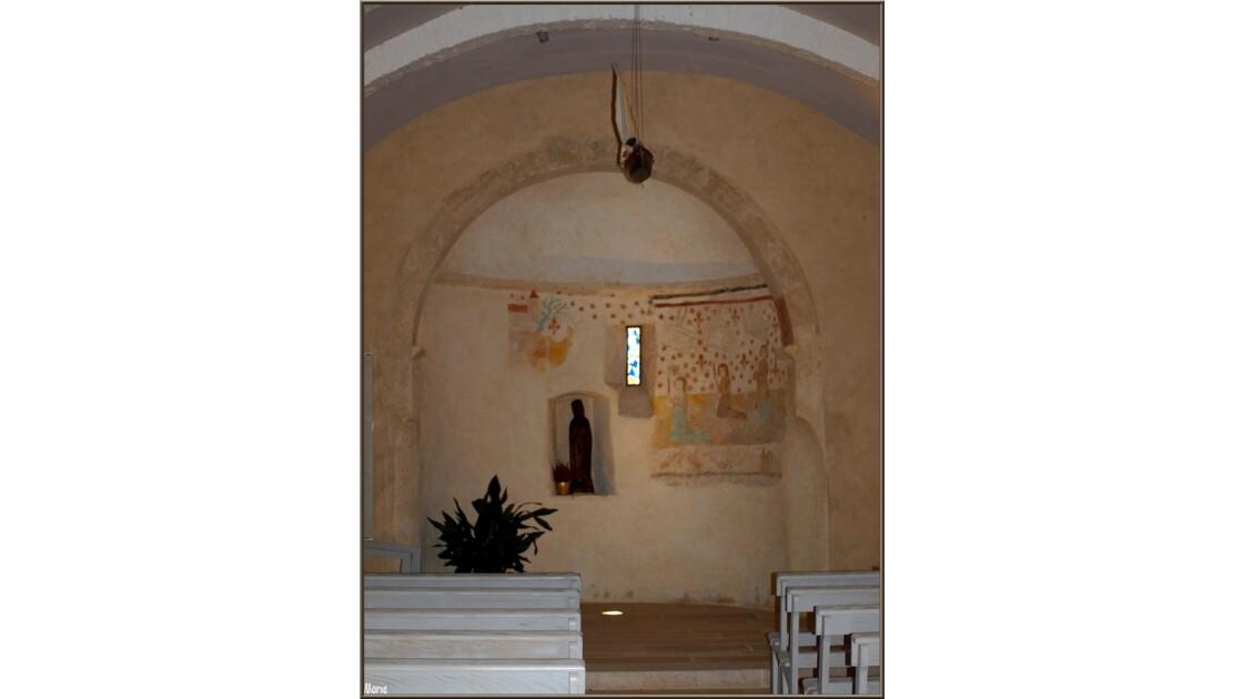Eglise St Eloi fresque XVe Ste Quitteri