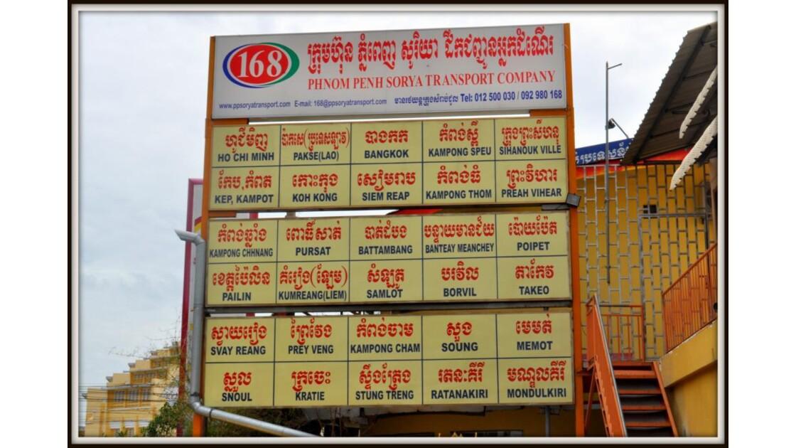 Gare routiere a Phnom Penh.
