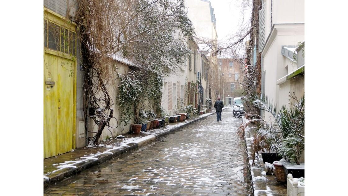 Neige rue des Thermopyles