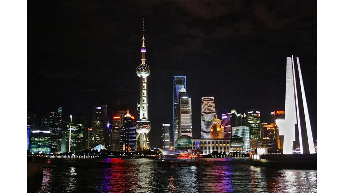 Pudong depuis notre chambre d'hôtel