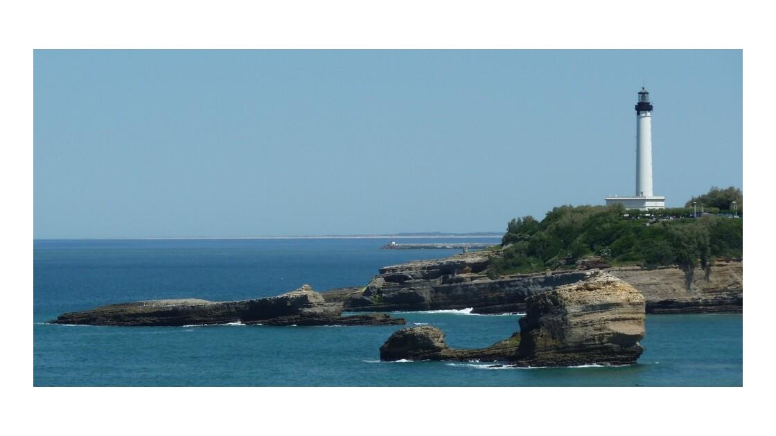Au loin, les plages d'Anglet.