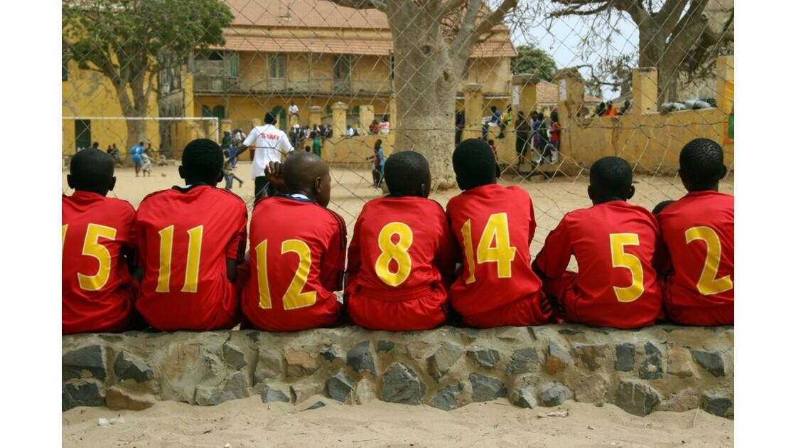 Match de foot sur l'île de Gorée
