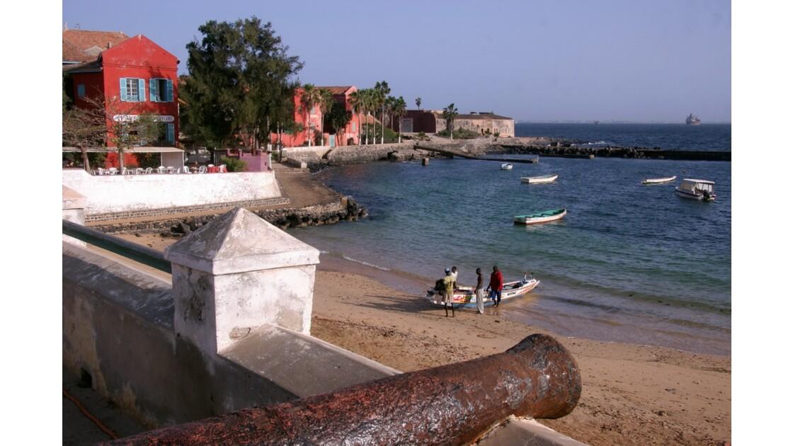 La plage de l'île de Gorée