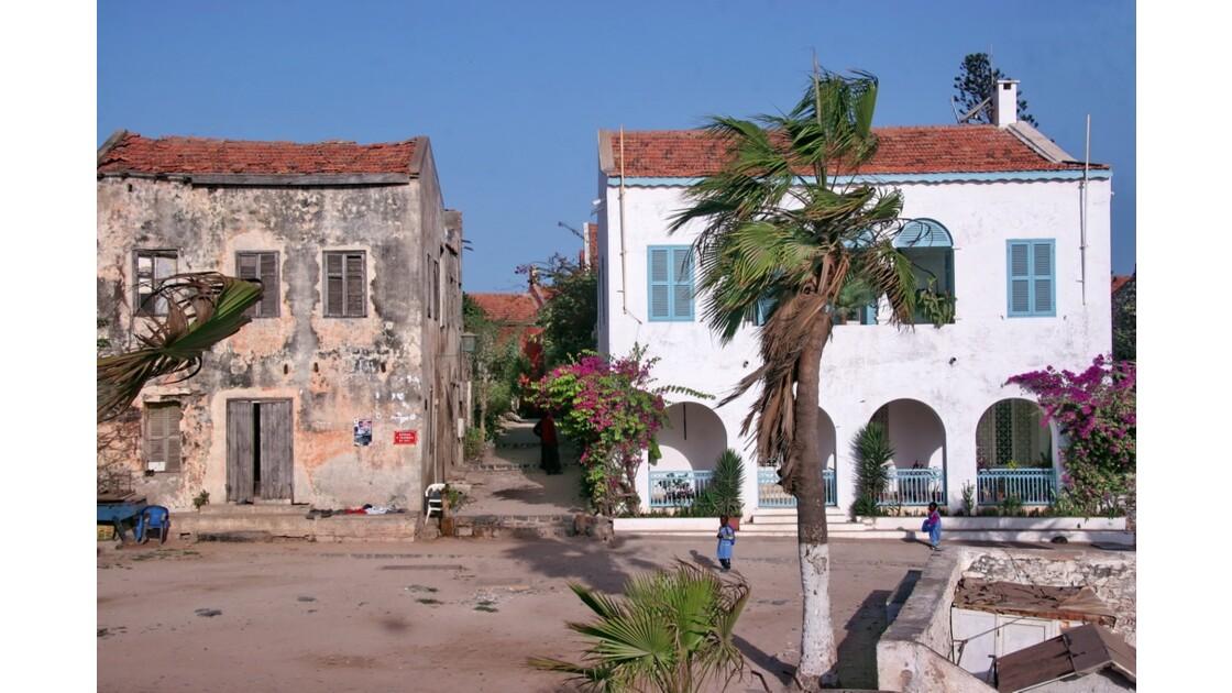 Maisons du port de l'île de Gorée