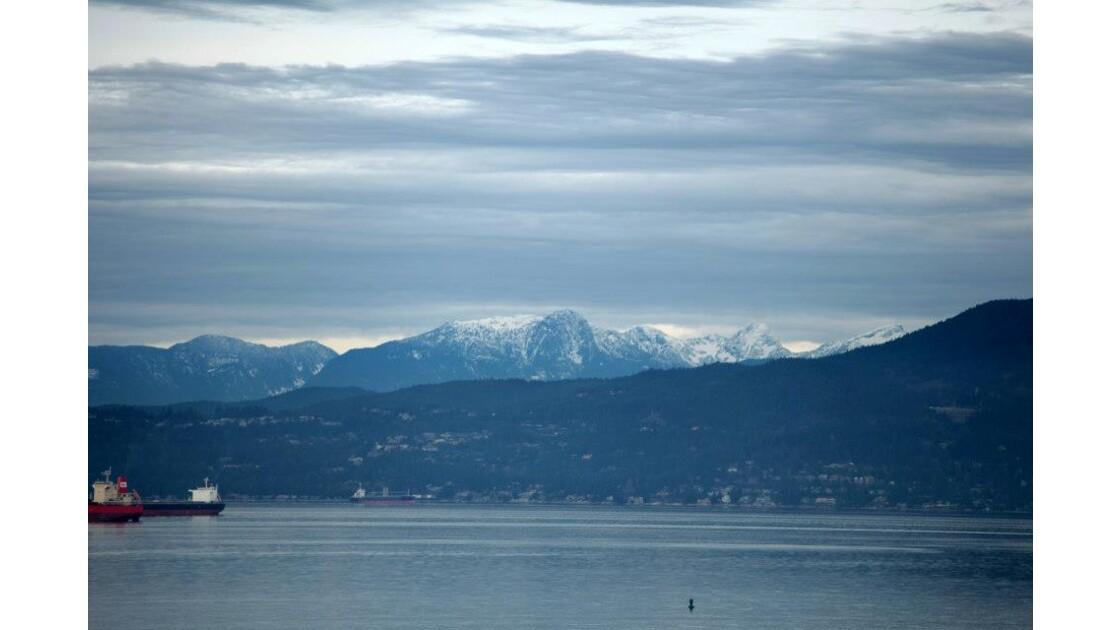 Les montagnes de North Vancouver