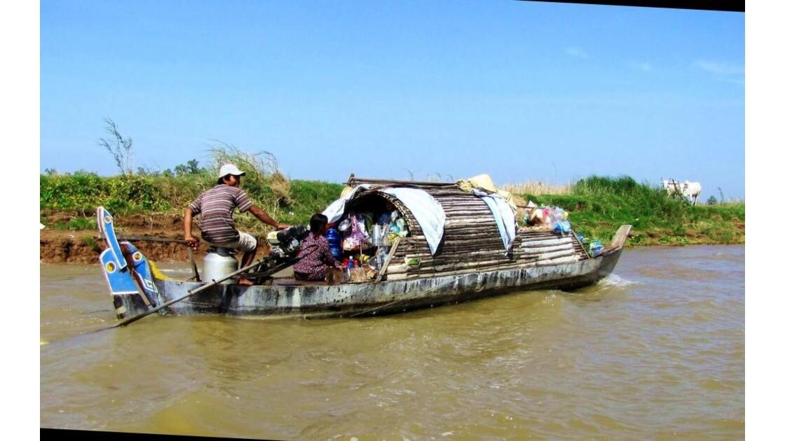 Gens du fleuve sur le Mékong