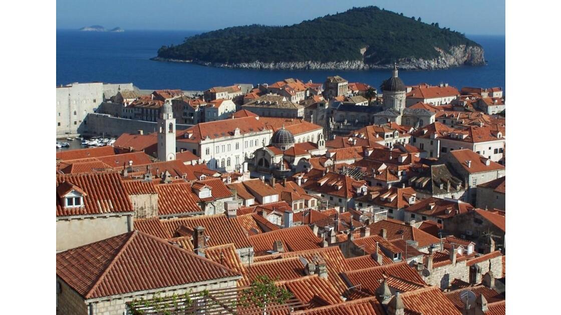 par dessus les toits de Dubrovnik
