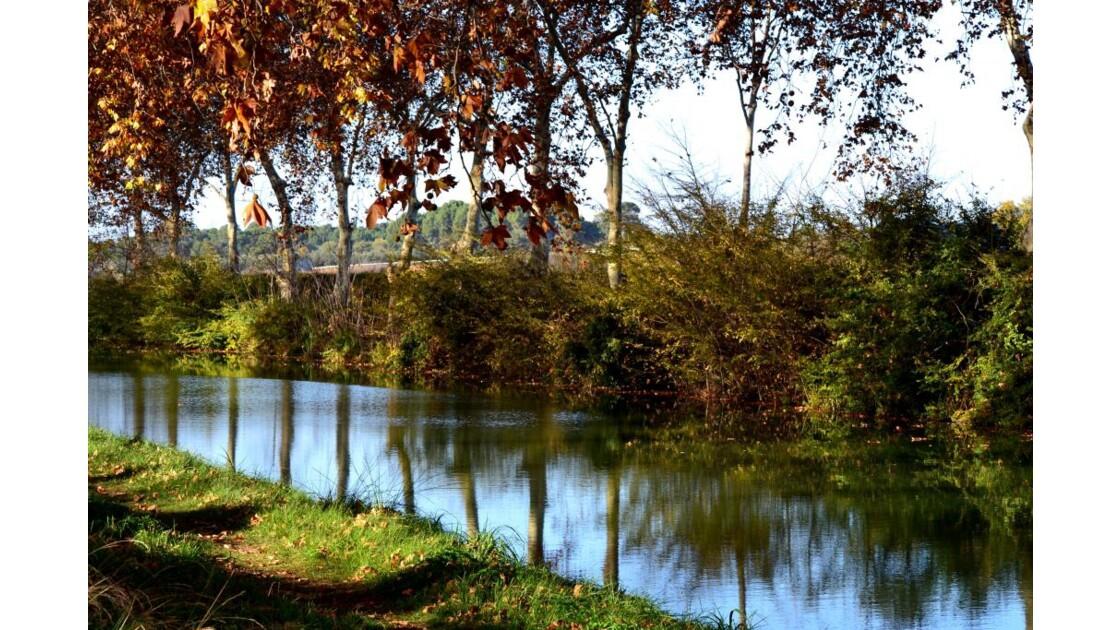 L'automne s'installe sur le canal