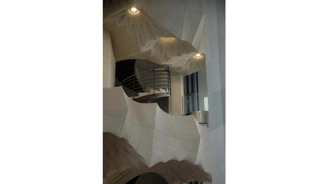 interieur de la sagrada familia de Gaudi