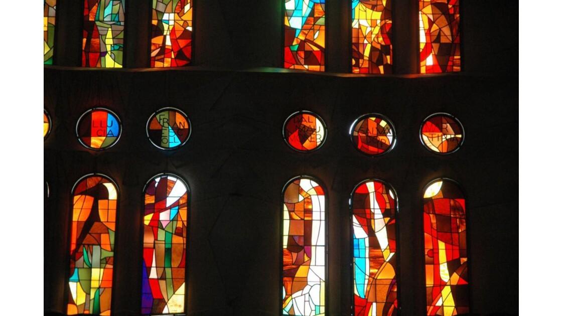 vitraux à la Sagrada Familia de gaudi
