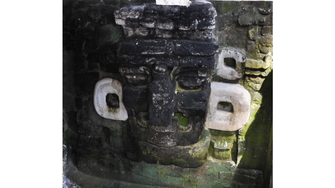Tikal : tête de dieu Chac