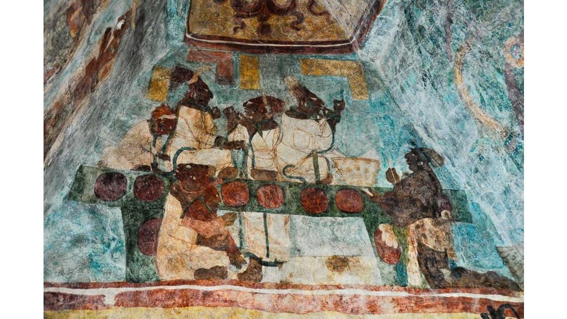 Peinture maya à Bonampak