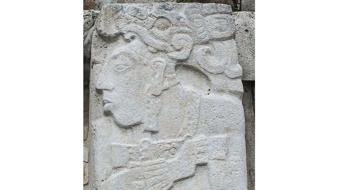 Palenque, tête de maya JPP