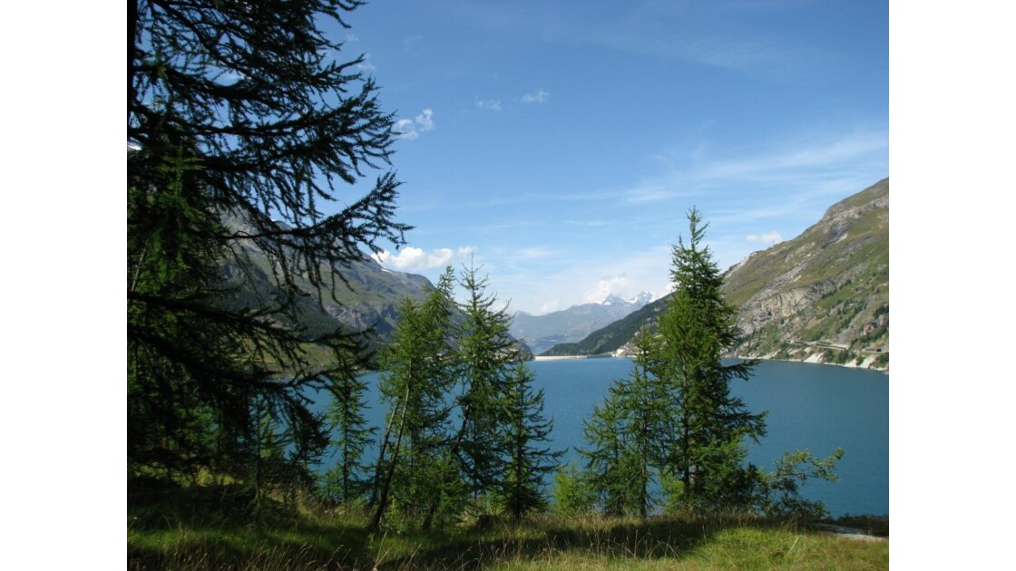 Tignes : lac du barrage du Chevril