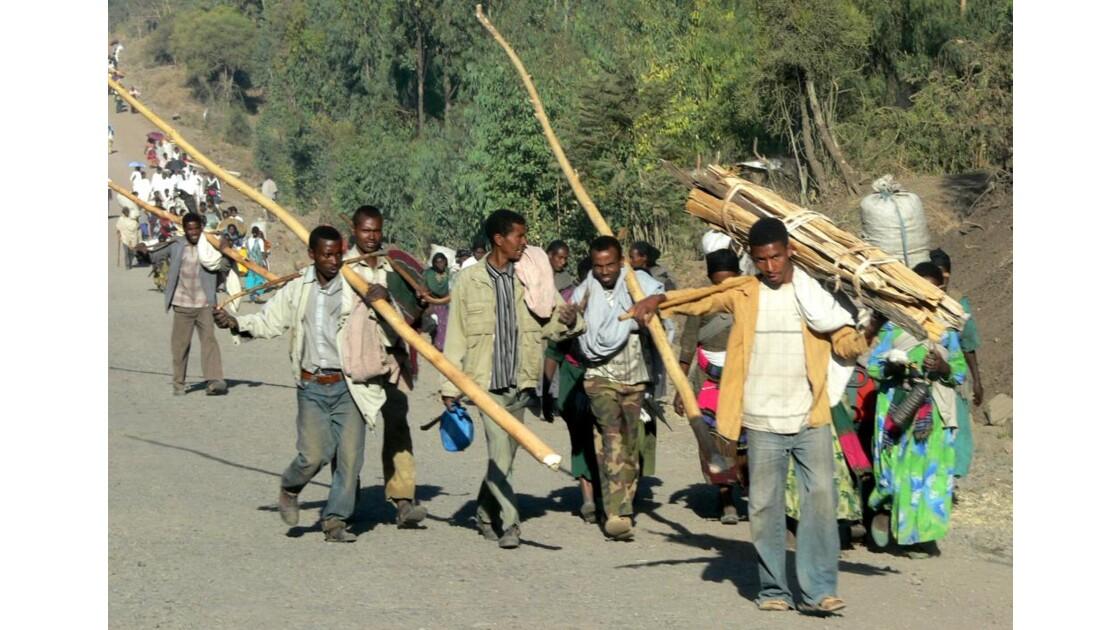 En route vers le marché du bois