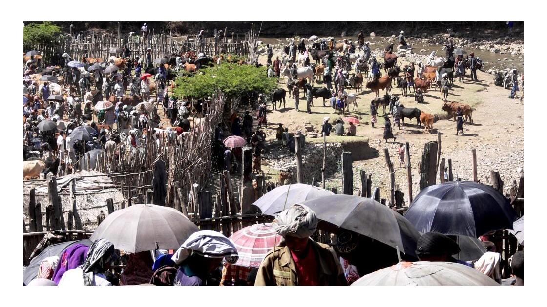 Une vue du marché d'Ataya