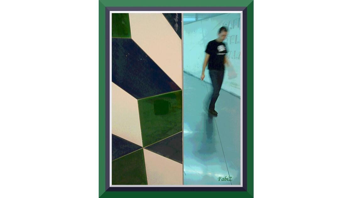 Blue Green & White Ceramic Tiles