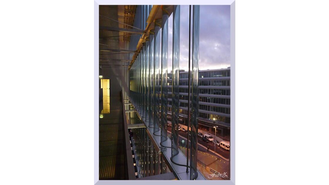 View of Porto through the Glass Window