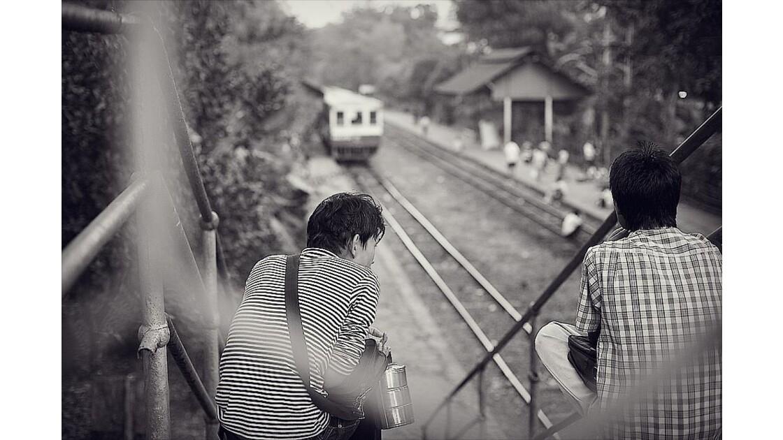 Trainstation in Rangoon's Township