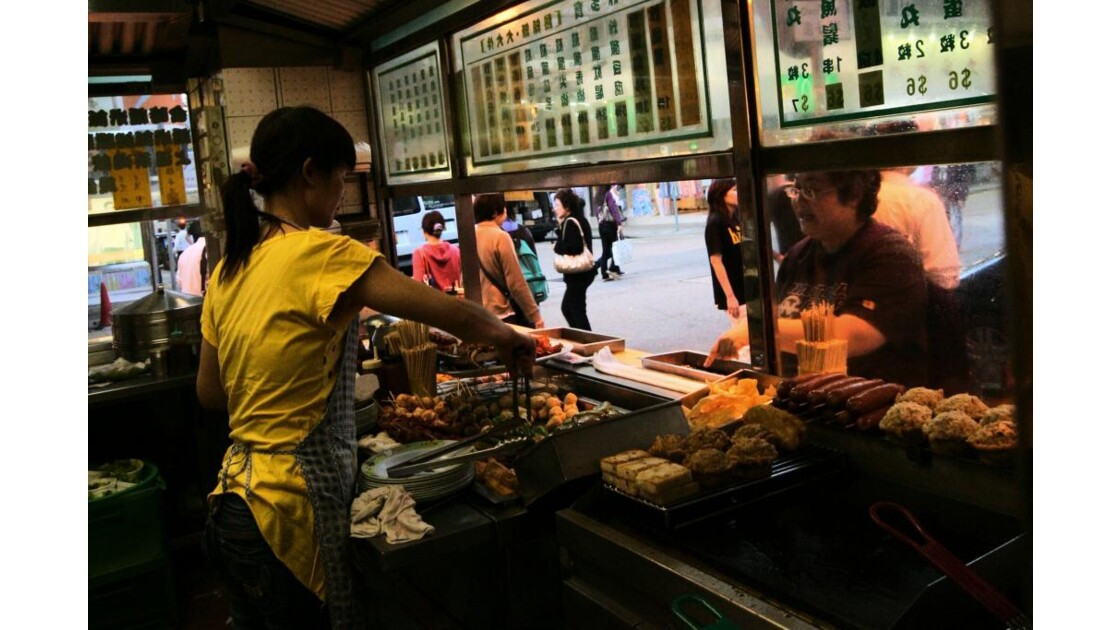 Snack-bar à Hong-Kong