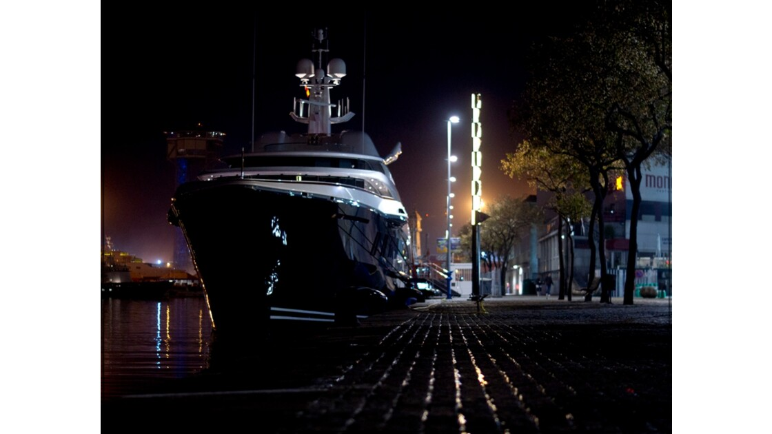 Big yacht in the marina !!!