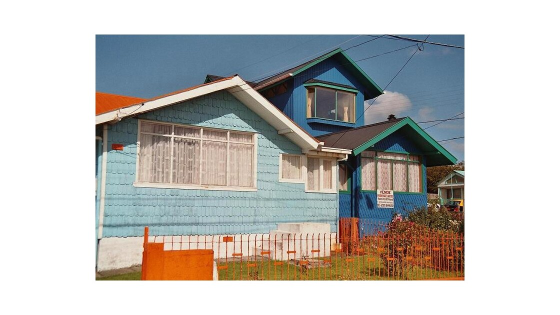 Chili, Ancud, Maisons ´Ecailles´
