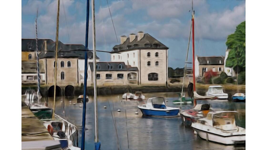 Barques et port de Pont l´Abbé
