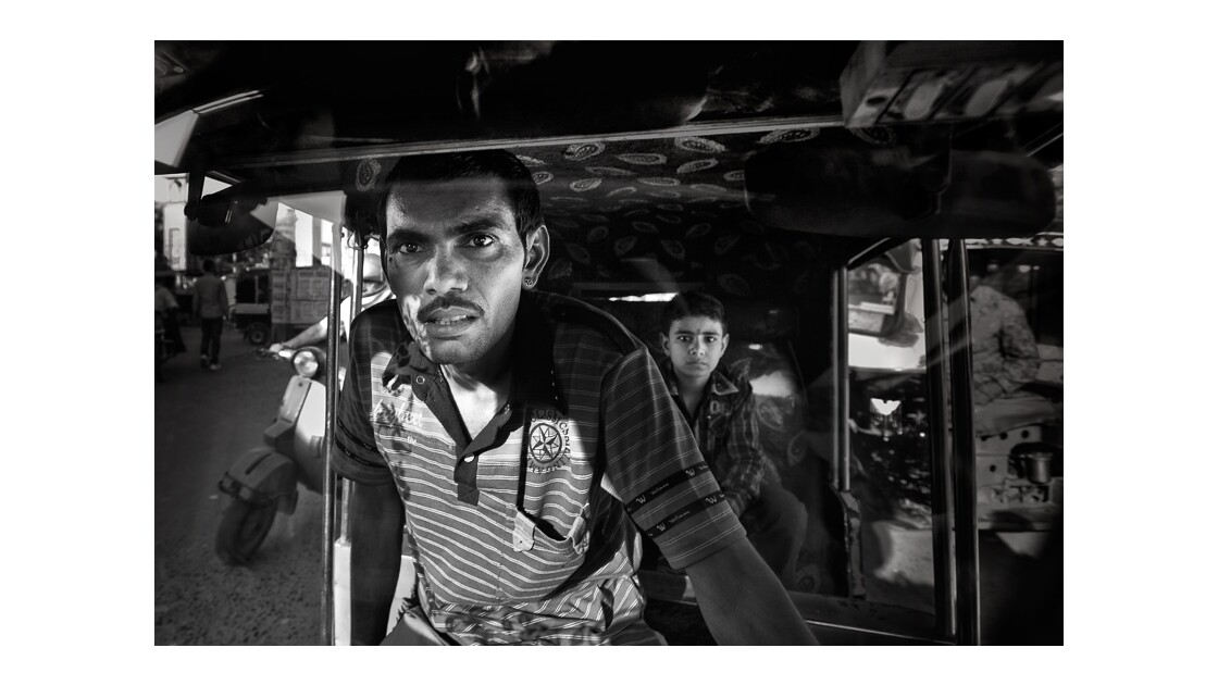 Chauffeur d'autorickshaw à Bikaner