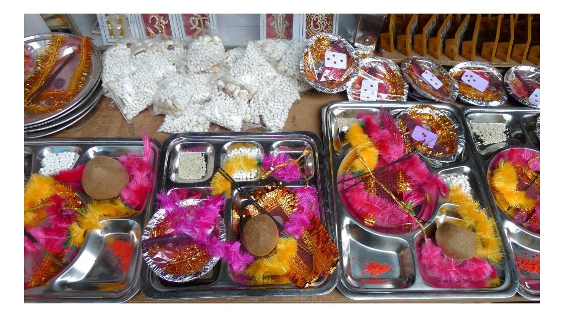Offrandes pour le temple de Kedarnath