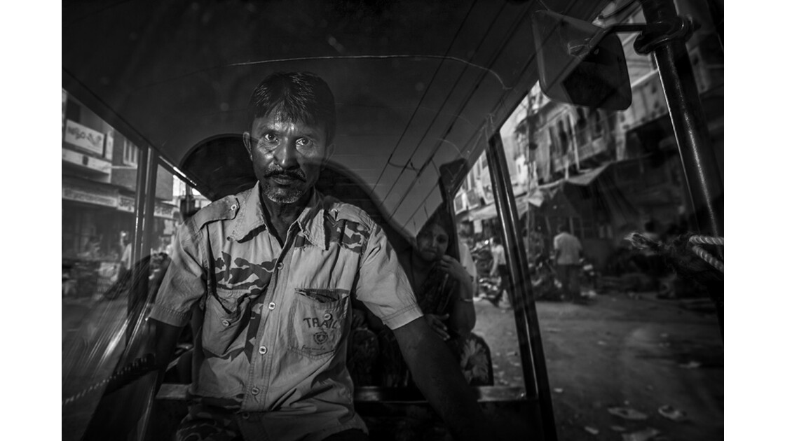 Chauffeur d'autorickshaw de Bikaner.