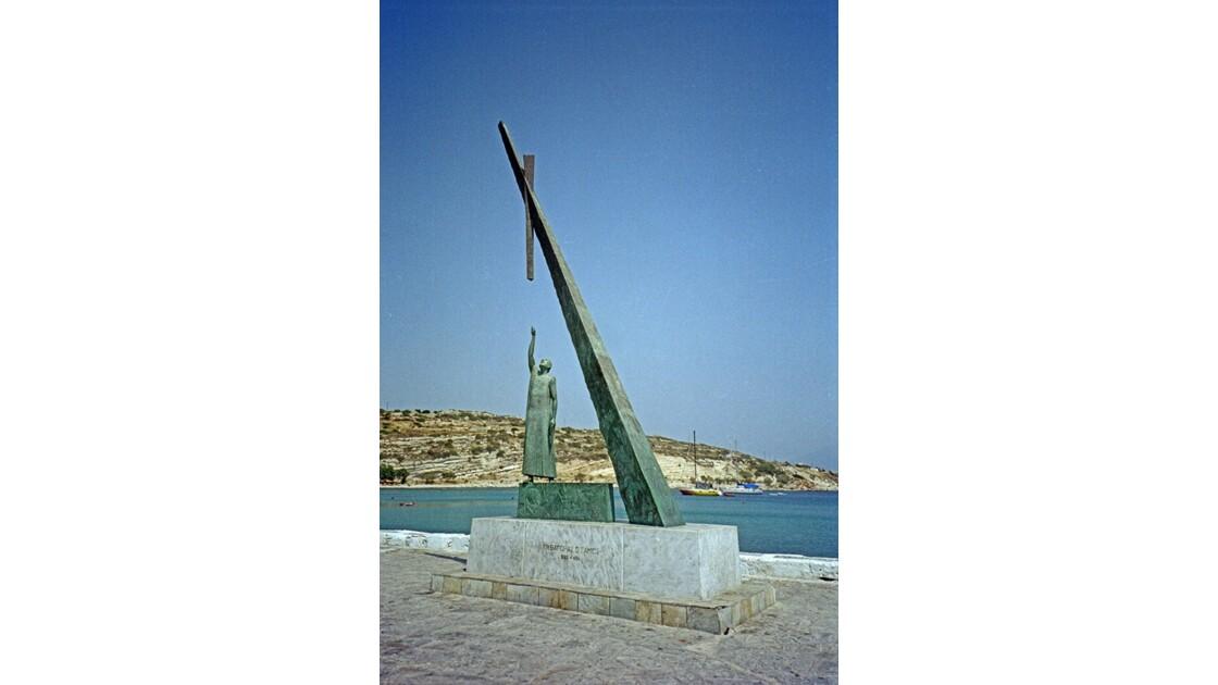 Samos Pythagorio statue de Pythagore 1