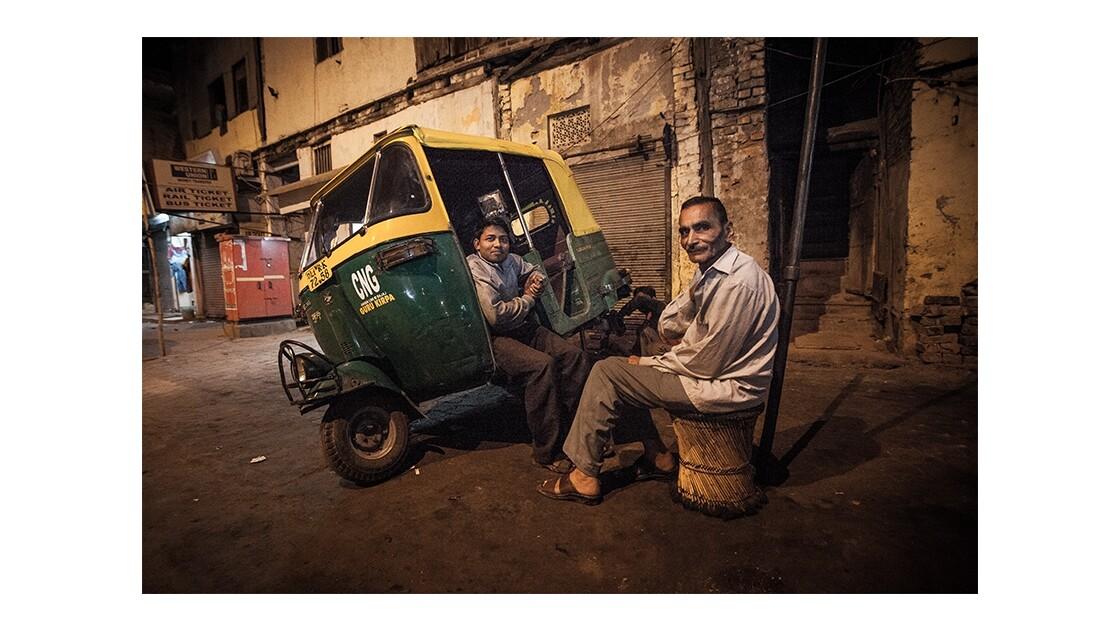 Autorickshaw en panne à New Delhi