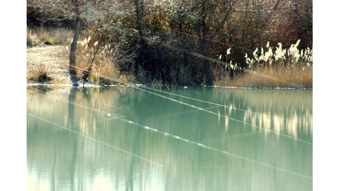Rayons laser en fils de pêche...
