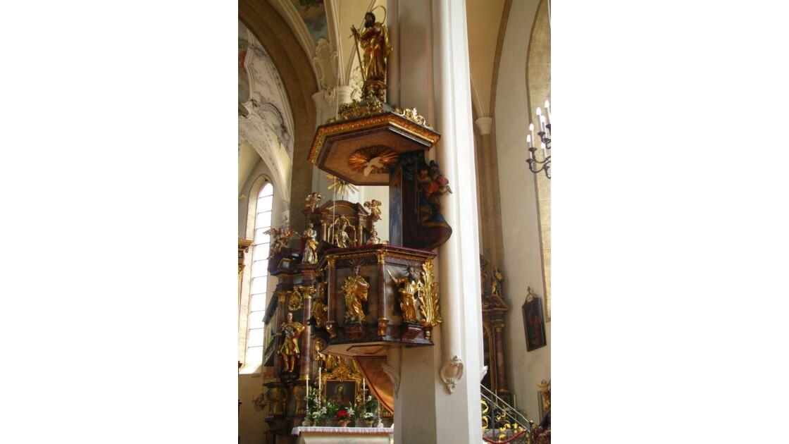 Kitzbülh: chaire de l'église