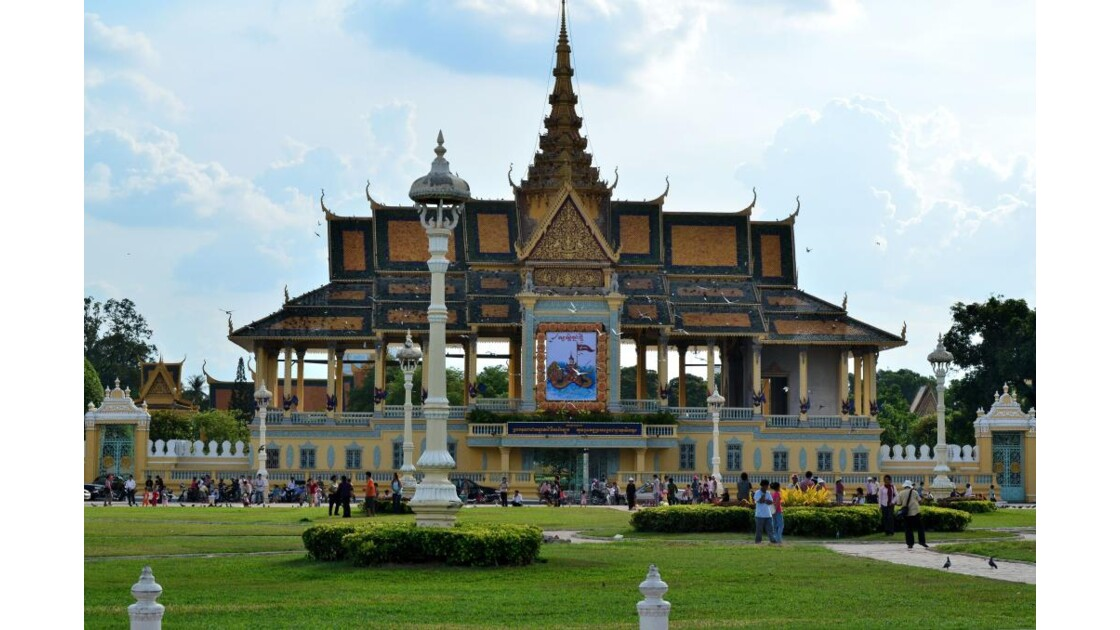 Phnom Penh : place du palais royal
