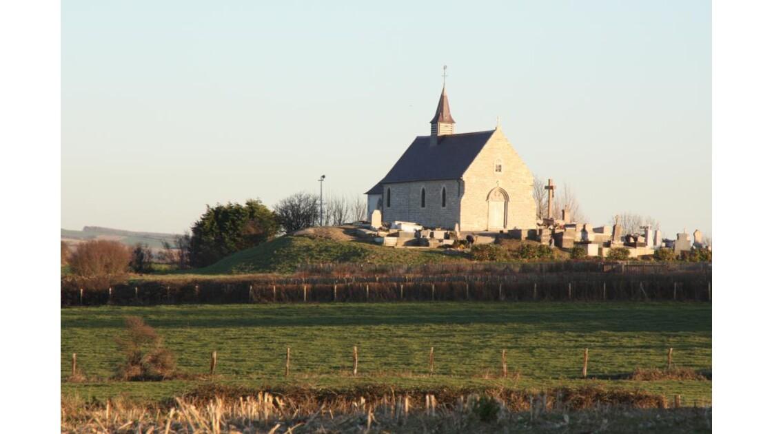 petite église en cote d'opale