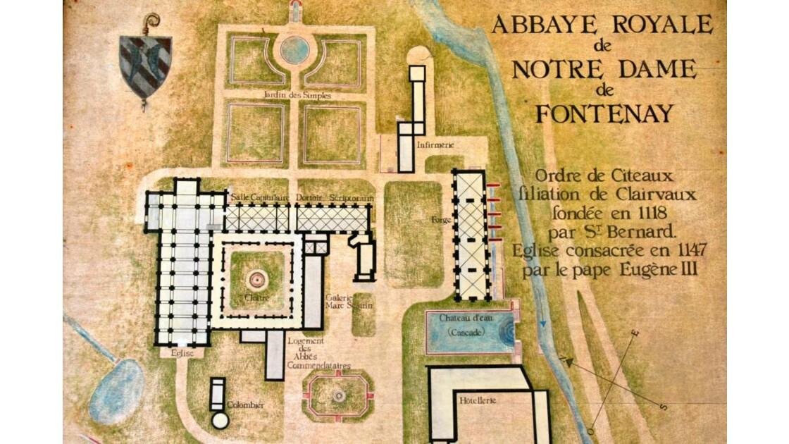 Plan de l'abbaye de Fontenay