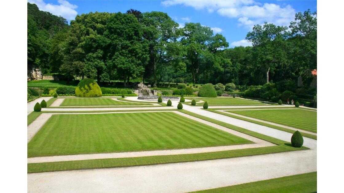 Abbaye de Fontenay: le grand jardin