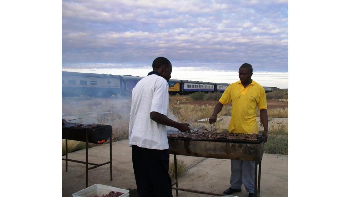 barbecue en plein désert